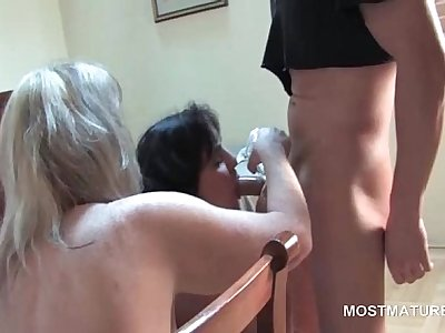 Orgy with matures sucking stripper shaft