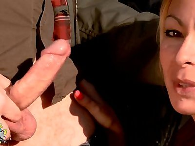 Blonde mature whore fucked very hard, in the ass , fisted and squirts