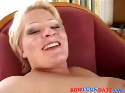 Mature busty blonde anal