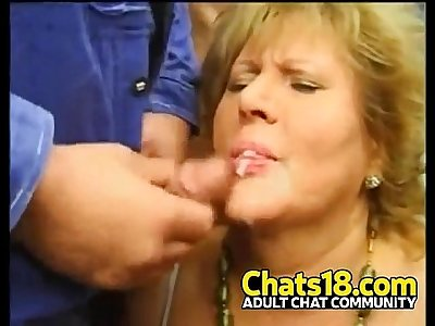 Granny fucking and sucking young cocks messy facial mature woman fuck