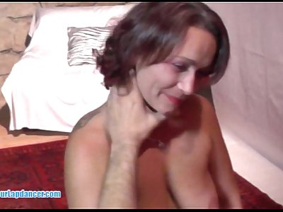 Busty czech MILF does sensual lapdance