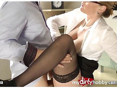 German MILF creampies and facial!