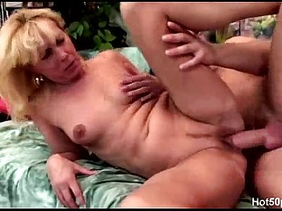 Koko - 50  old blonde mature and her young lover